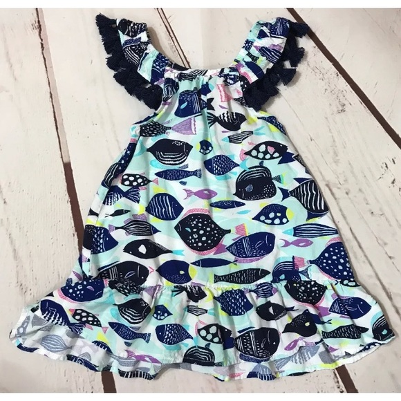 8ad070aae Cat & Jack Dresses | Cat Jack Baby Girl 18 Months Fish Dress | Poshmark